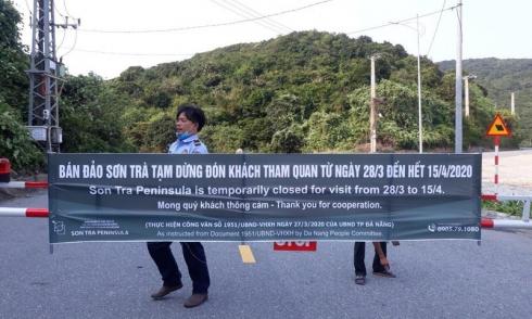 Đà Nẵng tạm dừng đón khách tham quan bán đảo Sơn Trà, tạm dừng tắm biển