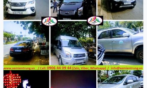Bảng giá cho thuê  xe du lịch City Tour, xe đón tiễn tại Đà Nẵng và Hội an